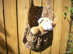 Bubbly Fizz with PlushTeddy Stuffed Animal Carrier by joliefemme, $12.00