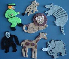 GoodNight Gorilla Childrens Flannel Board Story Felt Set. $9.00, via Etsy.
