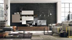 Parete attrezzata per arredare il #soggiorno c135 | www.gruppotomasella.it