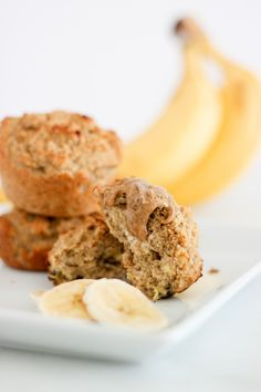 Bake a batch of these heavenly banana bran muffins as a healthy breakfast option for your family. They're sweetened only with ripe bananas and applesauce, so you can enjoy a treat low in added suga...