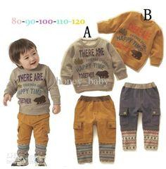 Autumn Baby Boys Girls Letter Pattern Long Sleeve Hooded Coat T Shirt Overalls Harem Pants Kids Clothing Suit Children Garment From Honey_baby, $64.45 | Dhgate.Com