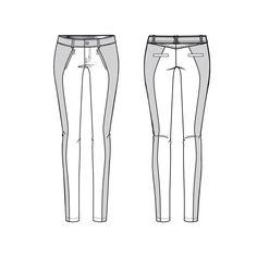 womens color block moto skinny pant fashion flat template