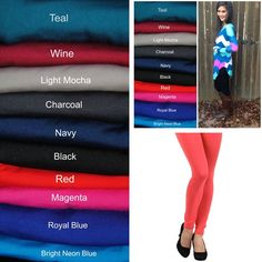 RESTOCKED! We just restocked the Teal, Light Mocha, Charcoal, Navy, Black, Red, Coral and Dark Brown in our Best Seller Fleece Lined Solid Leggings!  Only $12 with free ship!  Comment with Email and State to Purchase or shop on our website under bottoms!