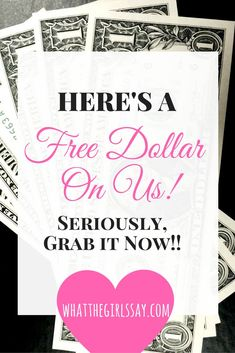 GRAB YOUR DOLLAR NOW!! Here's A Free Dollar from the girls at What the Girls Say..Seriously, It's legit, and we have proof!! whatthegirlssay.com  Ok, its not from our personal bank account, but from this super cool website!  And it's totally legit! (We have the proof below!) It's a website called FreeEats.com.  And as soon as you sign up and verify your phone number, they'll send $1 directly to your PayPal account, just for signing up! No strings attached...No joke! We have proof...right…