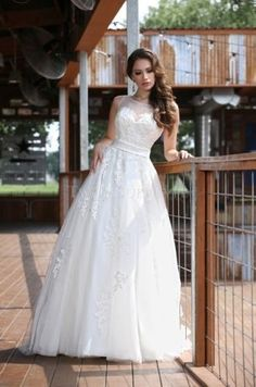 A-line High Neck White Attracting Wedding Dresses Custom Made 6 8 10 12 14 16 on Luulla