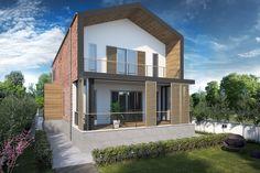 Villa Şimşek #architecture #facade #brick #shutter #scandinavian #villa #houses