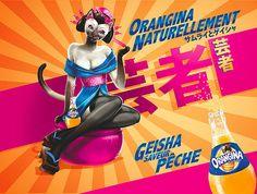 cat x geisha = Orangina peach...