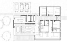 Image 9 of 10 from gallery of The Garriga Houses / Blancafort-Reus Arquitectura. Architecture People, Architecture Design, Architectural House Plans, Villa Plan, House Floor Plans, House Design, Flooring, How To Plan, Home