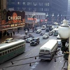 State Street traffic, 1949 (Chicago Pin of the Day, 7/31/2014).