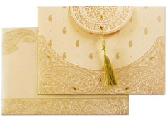 www.regalcards.com now showcasing this ultimate beautiful elegant and graceful invitation card with amazing paisley motifs in raised golden.