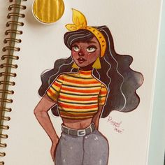 "1,779 Likes, 11 Comments - Raquel (@raqueltraveillustration) on Instagram: ""A stylish girl in my @mosseryco sketchbook ❤ P.s to future me: learn how to center a drawing.…"""