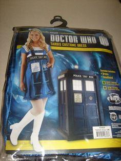 ADULT SIZE LARGE X LARGE DOCTOR WHO TARDIS HALLOWEEN COSTUME DRESS  NEW  #NEWCOSTUME #DRESS #Halloween