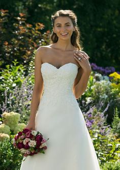 Sweetheart Gowns - Style 11010: Sweetheart A-Line Gown with Floral Detailed Bodice