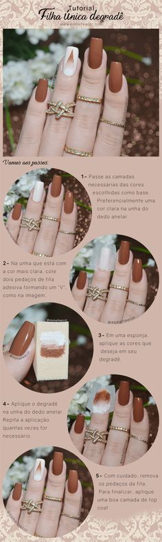 Best Ideas For Makeup Tutorials Picture Description Unha decorada Filha única Degradrê filha unica degrade facil - Beautiful Nail Art, Gorgeous Nails, Love Nails, Pretty Nails, Matte Nails, Diy Nails, French Gel, Diy Nagellack, Manicure Y Pedicure