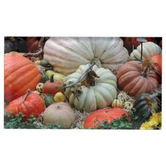 Pumpkin Patch Harvest Place Card Holder - fall decor diy customize special cyo
