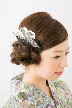 【着物】自分でも出来るシンプルかわいいヘアスタイル【浴衣】 - NAVER まとめ