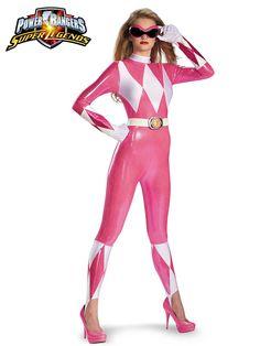 Power Rangers Pink Ranger Sassy Bodysuit   Wholesale Power Rangers Costumes for Women