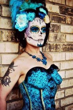 Sugar Skull Face and Body Art ❤'d by http://makuparistrycairns.com.au