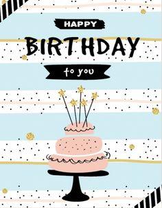 Happy Birthday - cake, pink & black. Custom edit by lechezz