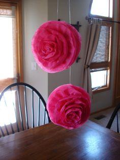 DIY... crepe paper flowers