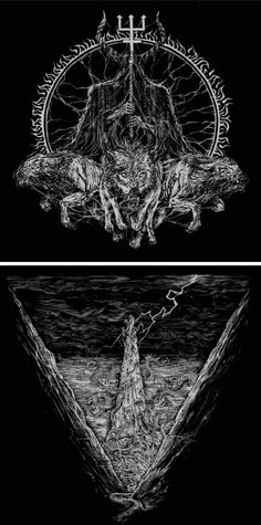 """Zbigniew M. Bielak - Complete Artwork for """"Lawless Darkness"""" by Watain, 2010."""