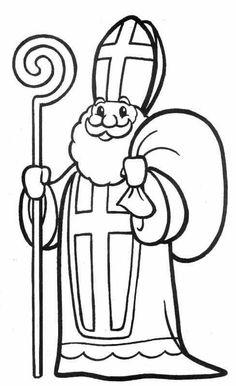 8 Simpliste Saint Nicolas Coloriage Stock Dessin A Colorier Et A Imprimer Saint Nicolas Coloring Pages Winter, Christmas Coloring Pages, Free Coloring, Coloring Books, Christmas Colors, Christmas Crafts, Christmas Lights, St Nicholas Day, Santa Pictures