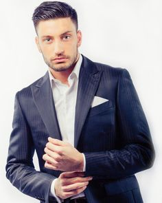 Giovanni Pernice looking great in a subtle pinstripe. The key to pulling off this look will always be style, confidence and character. We give our clients that little boost to try something different.The Whipped Cat Bespoke Tailors make Savile Row Qua Strictly Professional Dancers, Strictly Dancers, Strictly Come Dancing, Bespoke Suit, Bespoke Tailoring, Fit Actors, Men's Fashion, Romantic Movies, Gorgeous Men