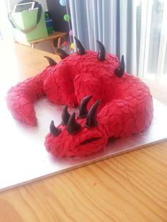Red dragon Red Dragon, Cakes, Desserts, Food, Tailgate Desserts, Meal, Cake, Dessert, Eten