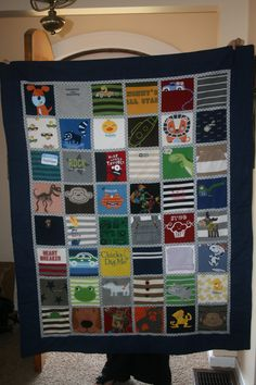 Such a great idea! Keepsake quilt from old baby clothes! Love it