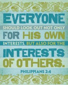 HomeLife Magazine — Printable Scripture Word Art: Philippians 2:4