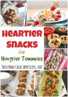 "Pin this to save - you'll use it again and again! Hearty snack recipes - perfect for after-school-snacking and late-night noshing - even great as appetizers! (Plus over 100 other best-ever healthy snack ideas - the perfect healthy snack ""cookbook""!) ~ from Two Healthy Kitchens at www.TwoHealthyKitchens.com"