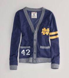 Notre Dame Vintage Varsity Cardigan Cardigan Fashion 1aed97cdf