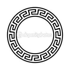 Patrón redondo nacional griega — Ilustración de stock #34478901