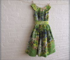 I would drink tea in this tea dress.