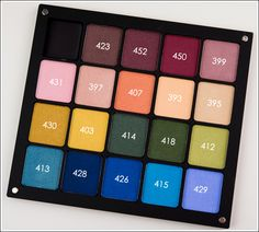 Inglot Pearl Eyeshadows in #423, 452, 450, 399, 431 (Reds/Pinks)