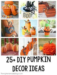 25+ DIY Pumpkin Decor Ideas / Round up on Thirty Handmade Days