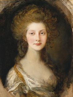 Princess Augusta Sophia by Thomas Gainsborough, 1782. Daughter of King George III and Queen Charlotte