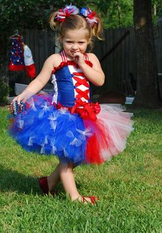 Custom Over the top patriotic tutu corset set made by RainbowsLNG, $85.00