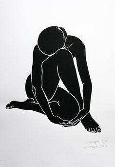 """Saatchi arte artista Una Weyer;  Grabado, """"Georgia - Edición Limitada 15 de 20"""" #art"""