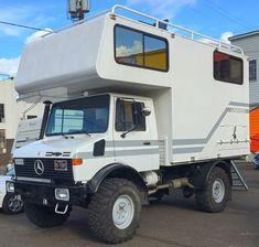 because unimog Van Camping, Camping Life, Truck House, Mercedes Benz Unimog, Adventure Campers, Campervan Interior, Expedition Vehicle, Camper Conversion, Truck Camper