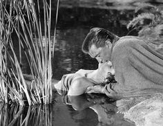 """Jean Simmons with Kirk Douglas in """"Spartacus"""" (1960)"""