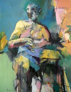 abstract figure paintings | Abstract Figure 2012 Painting by Dan Boylan - Seated Abstract Figure ...