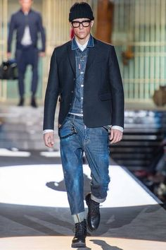 Dsquared Fall 2014 Menswear Fashion Show Mens Fashion Week, Winter Fashion, Fashion Show, Fashion Design, Classic Fashion, Fashion Vintage, Milan Fashion, Mode Man, Casual Outfits