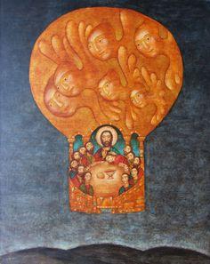 Julia Stankova, 2009 The Last Supper Scripture Art, Bible Art, Religious Icons, Religious Art, Christian Friends, Religious Paintings, Jesus Art, Last Supper, Catholic Art