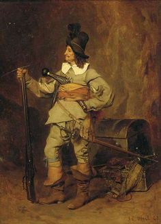 Artist not stated nor when and where. My best guess is tail end of Thirty Years War 17th Century Clothing, 17th Century Fashion, Military Art, Military History, Long John Silver, Thirty Years' War, Early Modern Period, Landsknecht, Renaissance Paintings
