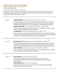 Clean  Elegant  Resume Template  Template Creative Resume