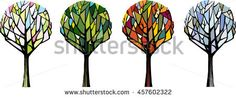 Trees in different season