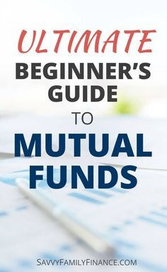 Money Basics: The Ultimate Beginner's Guide to Mutual Funds - Finance tips, saving money, budgeting planner Ways To Save Money, Money Tips, Money Saving Tips, How To Make Money, Money Budget, Groceries Budget, Managing Money, Investing In Stocks, Investing Money