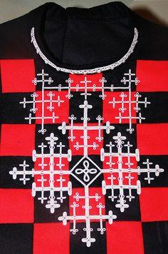 NFM Oslo. Sami pewter embroidery ornamentation for collar. Southern Sami: Trøndelag, Norway & Härjedalen, Berg, Storsjö, Sweden
