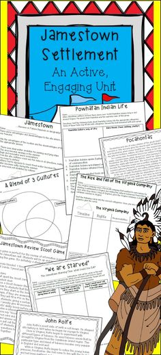 Are you looking for engaging activities and materials to use during your Jamestown unit? This is the perfect product for you!    Jamestown has a story to tell and we, as history teachers, have the privilege of revealing this amazing story! Jamestown was a turbulent settlement that ultimately became successful!: